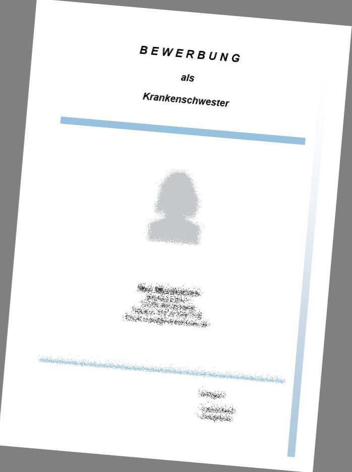 Hochwertiges Deckblatt Für Den Beruf Krankenschwester