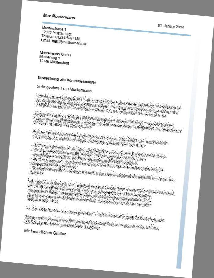 Muster Bewerbung Als Kommissionierer 5