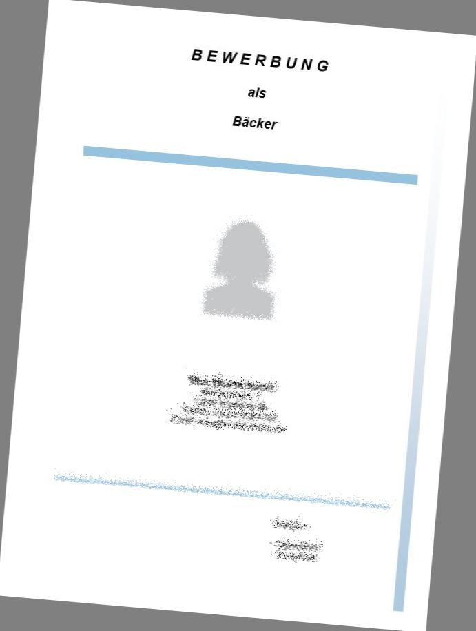 deckblatt bcker - Bewerbung Backerei Aushilfe